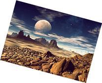 """Moon Desert- 12"""" x 18"""" Print On Aluminum HD Metal High Gloss"""