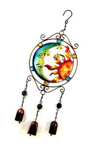 Bejeweled Display® Moon and Sun Faces w/ Stained Glass Wind