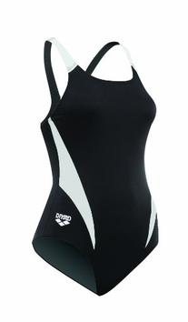Arena Girl's Morax Junior FL, Black/White/Silver, 8Y/24