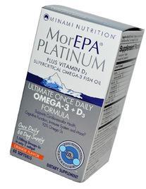 Minami Nutrition, MorEPA Platinum, Omega-3 + D3, Orange