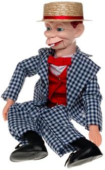 30 Mortimer Snerd Ventriloquist Doll with Tote Bag and