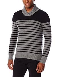 Levi's Men's Morton Stripe Shaw Collar Sweater, Black