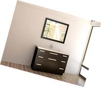 Design Element Moscony Single Sink Vanity Set with Espresso Finish, 48-Inch