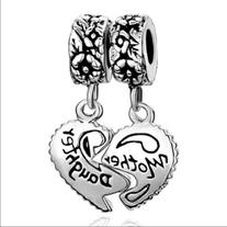 Pugster Heart Love Mom Mother Daughter Charms Jewelry Sale