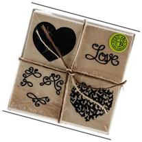Hero Arts Mounted Rubber Stamp Set 4X4-Color Layering Love