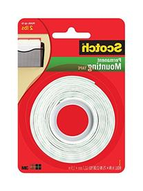 Scotch Permanent Mounting Tape, 0.5 x 75 inches