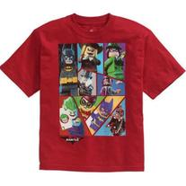 LEGO Boys' Batman Movie Red Group Graphic Tee