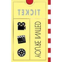 Movie Ticket Invitations 8ct