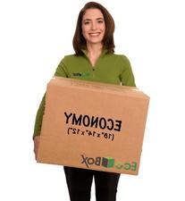 EcoBox Medium Moving Box Economy Size 18 x 14 x 12 Inches