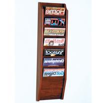 Wooden Mallet MR36-7MH Cascade 7 Pocket Magazine Rack in