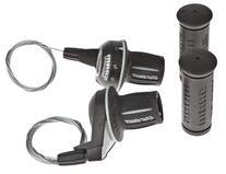 Sram MRX Comp 18 Speed Black Bicycle Twist Gear Shifters