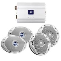 JBL MS6510 MS9520 & MA6004 PACKAGE 1 X 6.5 1 X 6X9 & AMP