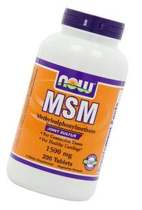NOW Foods MSM 1500mg  200 Tablets