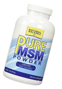 Pure MSM Powder 1000 mg Natural Balance 1 lb Powder