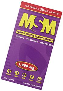 Natural Balance MSM Tablets, 1000 Mg, 240 Count
