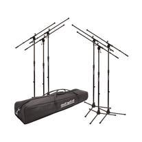On-Stage MSP7706 6 Euroboom Mic Stands Value Bundle w/Bag
