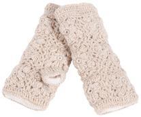 Nirvanna Designs MT13F L Flower Crochet Hand Warmers with