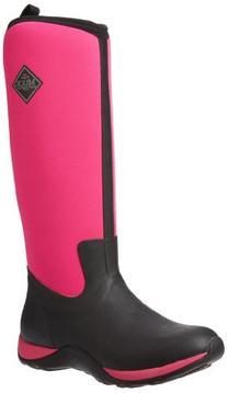 MuckBoots Women's Arctic Adventure Tall Snow Boot, Black/Hot