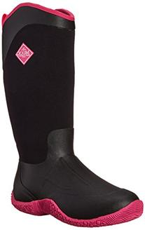 MuckBoots Women's Tack II Tall Equestrian Work Boot, Black/Hot Pink, 5 M US