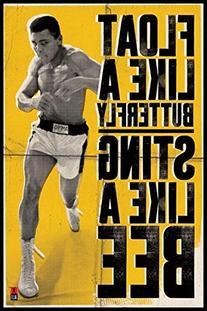 Muhammad Ali Float Like a Butterfly Sports Poster 24x36