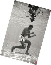 Muhammad Ali Underwater Boxing Sports Poster 24 x 36 inches