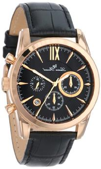 Lucien Piccard Mulhacen Chronograph Black Genuine Leather