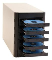 Microboards MulitiWriter DVD Tower, PC direct to 5 drives