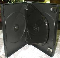 27MM MULTI-4 BLACK QUAD DVD CASE W/SWING TRAY, BOOKLET CLIPS