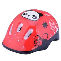 Topsung Child Multi-sport Helmet Panda Pattern Red