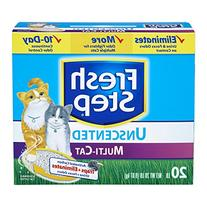 Fresh Step Multi-Cat, Clumping Cat Litter, Unscented, 20
