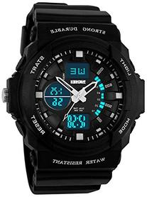 Fanmis Men's Multi-function Cool Sports Watch LED Analog