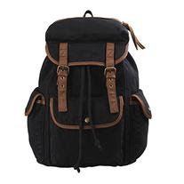 Hynes Eagle Multi Pockets Canvas Backpack School Travel