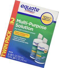 Equate - Multi-Purpose Contact Lenses Solution - 2-Pack 12