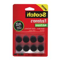 Scotch Multi-Purpose Fasteners, 5/8 Inch circles, Black