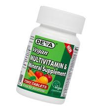 Deva Vegan Multivitamin, Mineral Supplement, Tiny Tablets,