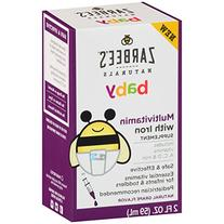 Zarbee's Naturals Baby Multivitamin with Iron, Vitamins A, C