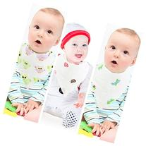 Muslin Cotton Baby Bibs & Burp Cloth For Drooling & Feeding