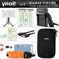 Must Have Accessory Kit For Sony Cyber-shot DSC-TX200V, DSC-