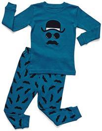 Leveret Mustache 2 Piece Pajama 18-24 Months