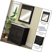 "Miseno MVBH30COM 30"" Bathroom Vanity Set - Cabinet, Stone"