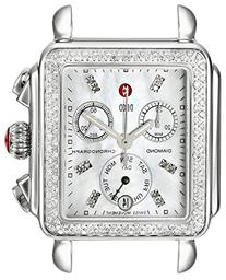 MICHELE Women's MW06P01A1046 Deco Diamond-Accented Stainless