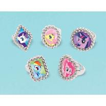 My Little Pony Jewel Rings Party Supplies, 18 Pieces, Made