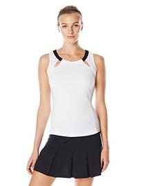 Bolle Women's Mystique Scoop Neck Tank Top, X-Small, White