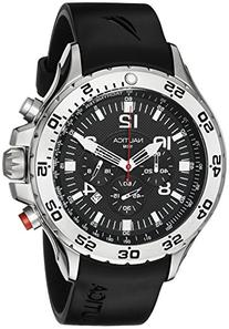 Nautica Men's N14536 NST Stainless Steel Watch with Black