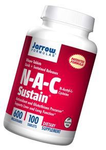 NAC Sustain 600mg 100 Tabs