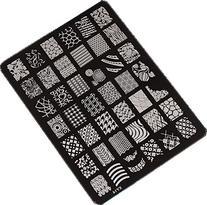 Sannysis Nail Stamping Printing Plate Manicure Nail Art