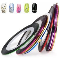 World Pride Nail Tape Stripe Decoration Sticker Hologram,