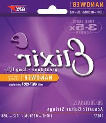 Elixir NanoWeb Acoustic Guitar Strings - Light Medium