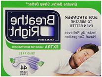 Breathe Right Nasal Strips Extra, Sensative Skin : 88 Clear