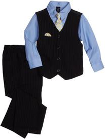 Nautica Dress Up Little Boys' 4 Piece Dresswear Vest Set,